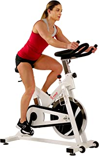 Sunny Health & Fitness Indoor Exercise Stationary Cycle Bike with 44 LB Inertia Flywheel, Smooth Chain Drive, Felt Resistance, 265 Max Weight - SF-B1110/S
