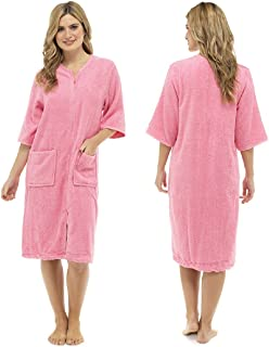 Ladies Cotton Terry Zip Front Gown
