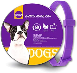 Bmrsi Calming Pheromone Collar for Dogs, Adjustable Relieve Reduce Anxiety Pheromone Your Pet Lasting Natural Calm Collar Up to 25 Inch Fits Dogs One Size Fits All Dogs
