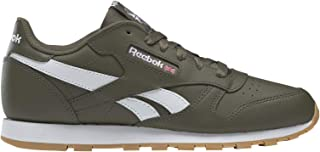 Reebok Classic Leather Army Green/White Leather Junior Trainers Shoes