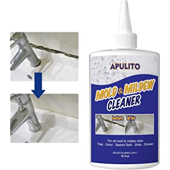 APULITO Mold & Mildew Remover Gel Household Cleaner for Tiles Stain Bathroom Cleaning 10 OZ …
