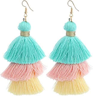 Earrings for Women Girls Fashion Spherical Style Rhinestones Tassel Dangle Stud Earring Jewelry ODGear