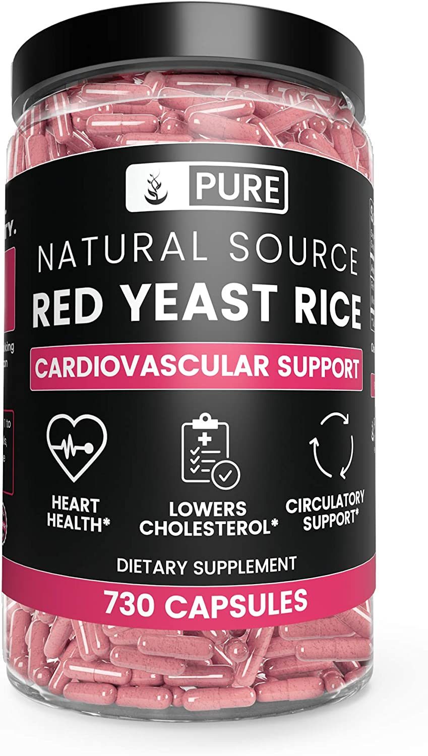 Pure Red Yeast Rice 730 Natural Glute Lowest price challenge Non-GMO 100% Omaha Mall Capsules