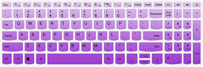 Keyboard Cover Compatible Lenovo IdeaPad 320/330/330s 340s 520 720s 130 S145 L340 S340 15.6 inch, IdeaPad 320/330 17.3 inch, IdeaPad 520 15.6 inch Laptop,GradualPurple