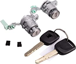 Door Lock Cylinder with Barcode Front Set Fits Honda 98-02 Accord, 01-05 Civic, 99-04 Odyssey, 00-09 S2000, (Left & Right) 72185-S9A-013