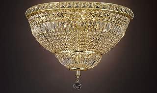 French Empire Empress Crystal(tm) Flush Basket Chandelier Chandeliers Lighting H 13