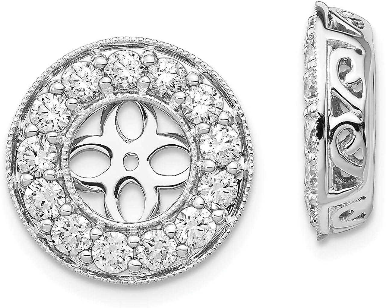 Lex & Lu 14k White Gold True Origin Lab Grown Dia. VS/SI, D E F, Earring Jackets LAL231