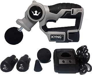 Kyng Fitness Massage Gun Professional Deep Tissue Massager Handheld Massage Gun Percussive Vibration Therapy Deep Tissue Massager Comes With (2) Powerful SAMSUNG 12 V Li-on Batteries