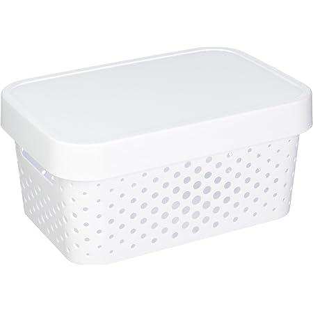 CURVER 04760-N23-00 Boîte à Rangement Infinity Points avec Couvercle 4,5L en Blanc, Plastique, 26,8x18,6x12,4 cm