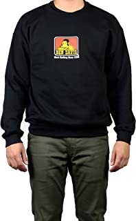Ben Davis Men's Gorilla Logo Crew Neck Pullover Sweatshirt, Black