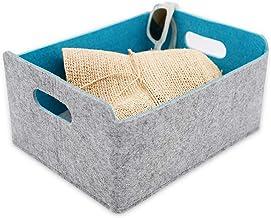 WELAXY storage baskets Felt Foldable Storage Cube bin Shelf Bins Organizer Felt box for for Kids Toys Magazine Books Cloth...