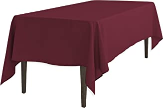 LinenTablecloth 102 Inch Rectangular Polyester Tablecloth