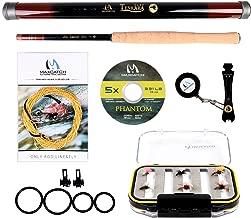 M MAXIMUMCATCH Maxcatch Tenkara Rod Combo Complete Kit 11/12/13ft(Telescoping Carbon Tenkara Rod, Tenkara Line, Tippet, Flies, Line Nipper, Hook Keepers)