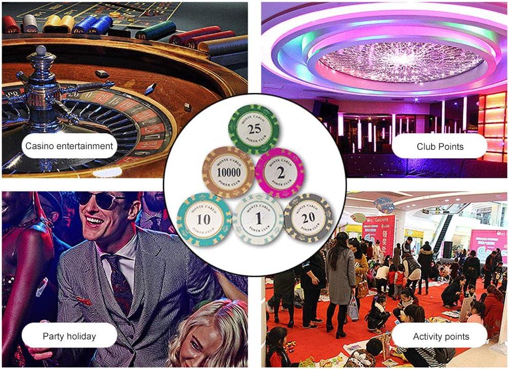 Chipmunt Texas Hold'Em Blackjack 21 Uur Stud Casino-Uitrusting Geldvervanger Facevalue10
