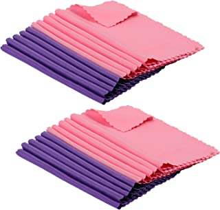 ColorYourLife 20-Pack Microfiber Cleaning Cloths for Smart Phone, Laptop, Tablets, Lenses, LCD Monitor, TV, Camera, Eyeglasses, Optics Etc (Purple + Pink)