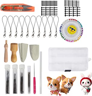 Needle Felting Kit - Needle Felting Needle - Wool Felt Tools - Felting Foam Starter kit Mat Awl Needles with Handy Case