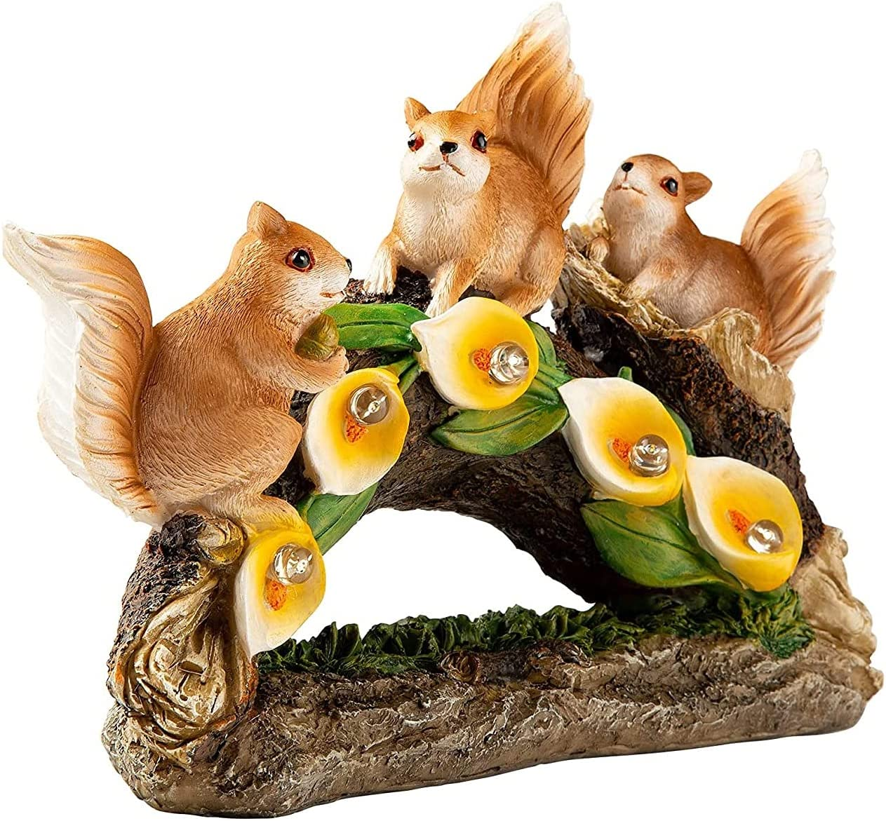 excellence sknonr Squirrel Simulation Garden Solar Selling and selling Statue Lantern Landscape