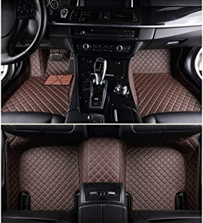 ALLYARD Custom Car Floor Mats for Mercedes-Benz CLK Class 200 350 280 240 2004-2006 All Weather Non-Slip Full Surrounded Advanced Performance Liners Luxury Leather Full Covered Coffee