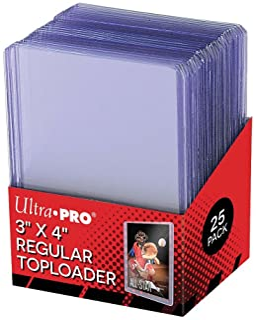 Amigo Spiel + Freizeit Ultra Pro Toploader standaard kaartbeschermers, 63,5 x 88,9 mm, transparant