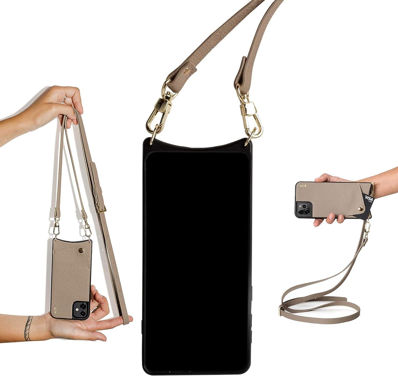 Coque pour iPhone avec Cordon de Collier Aux iPhone 12, Beige Fonc/é Etui Housse avec Cordon r/églable pour iPhone 12//12 Pro /& 12 Pro Max