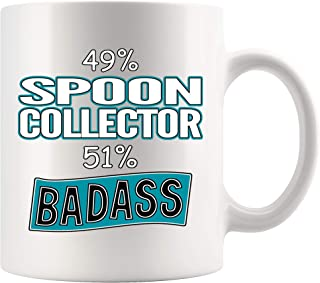 Spoon Collector Coffee Mug 11 oz white. Spoon Collector Funny Gifts for Women Men Cup