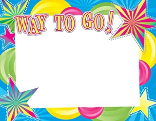 """Great Papers! Way to Go! Silver Foil Certificate, 8.5"""" x 11"""", 15 Count (2012108)"""