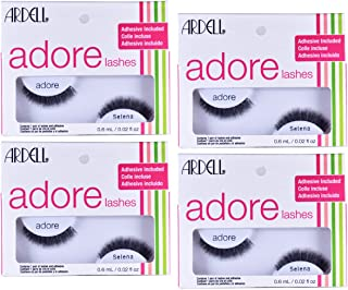 False Eyelashes Adore Strip Lash Selena, 4 pack by Ardell