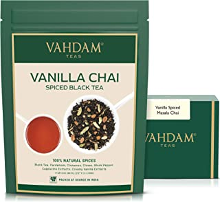 VAHDAM, Vanilla Spiced Masala Chai | 3.53oz (50 Cups) | STRESS RELIEVING & REFRESHING | Masala Chai Tea | Delicious Blend ...