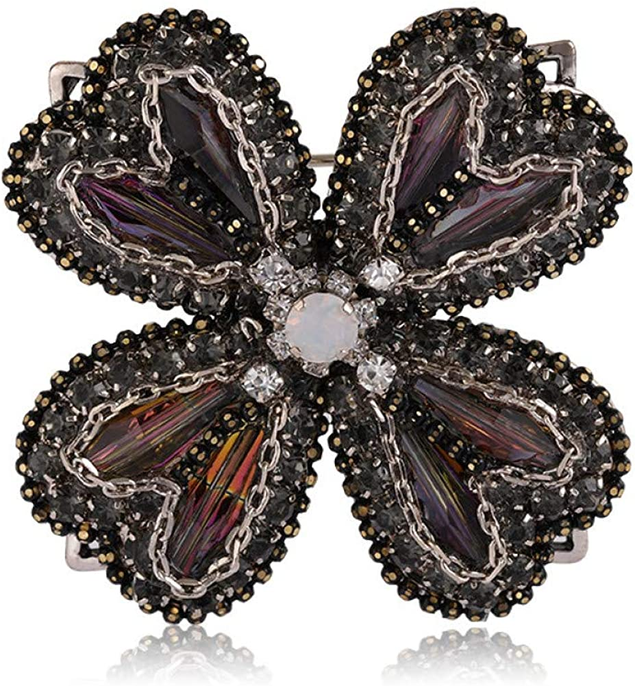 KYCPTNFJ Big Flower Brooches latest OFFicial site For Women Banquet Girls Party Cubic
