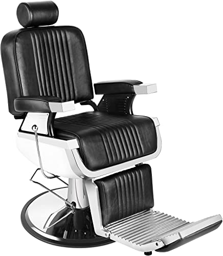 2021 Barber Chair Reclining Hydraulic Barber Chairs high quality Heavy Duty Styling Chairs for Salon Chair Tattoo Chair Beauty new arrival Equipment (Black) sale