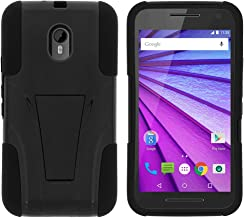 TurtleArmor | Compatible with Motorola Moto G 3rd Gen Case (2015) [Gel Max] Combo Hybrid Case Hard Shell Kickstand Impact ...