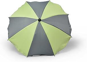 Universal sombrilla paraguas para carrito y Sport Buggy, pantalla para cochecito de bebé con soporte universal, UV schutz50+ toldo Protección Solar, dos colores gris-verde