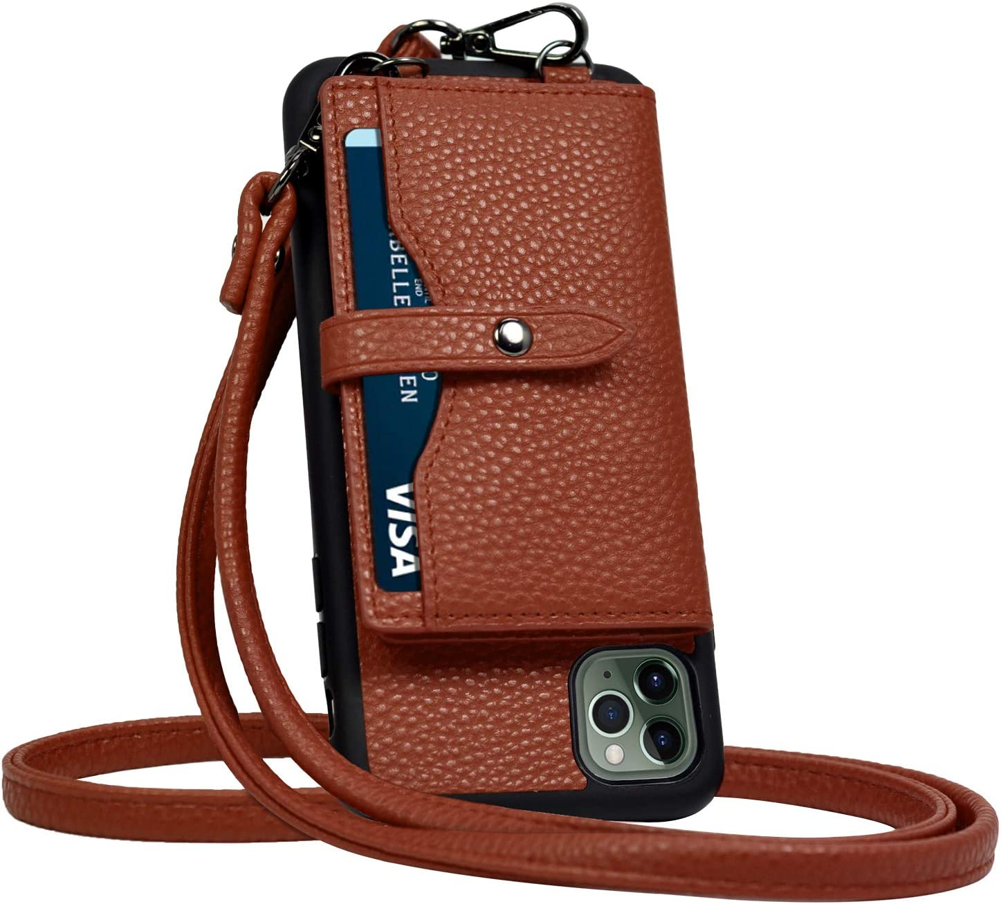 JM JUST MUST iPhone 11 Pro Wallet Case,Crossbody Case with Credit Card Holder case,iPhone 11 Pro Strap Case,Leather Case Protective Cover for iPhone 11 Pro 5.8 inch