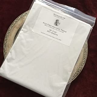 """25 Sheets 24"""" x 36"""" ; The Linen Lady's Acid Free Archival Tissue Paper - Unbuffered & Lignin Free (25) Protect Your HEIRLOOMS!"""