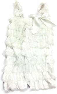 Baby/Toddler Girls Layered Lace Ruffle Petti Romper