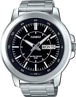 MTP-X100D-1EV Men's Stainless Steel Watch, Day/Date...