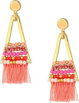 Rebecca Minkoff - Geo Tassel Chandeliers with Beading