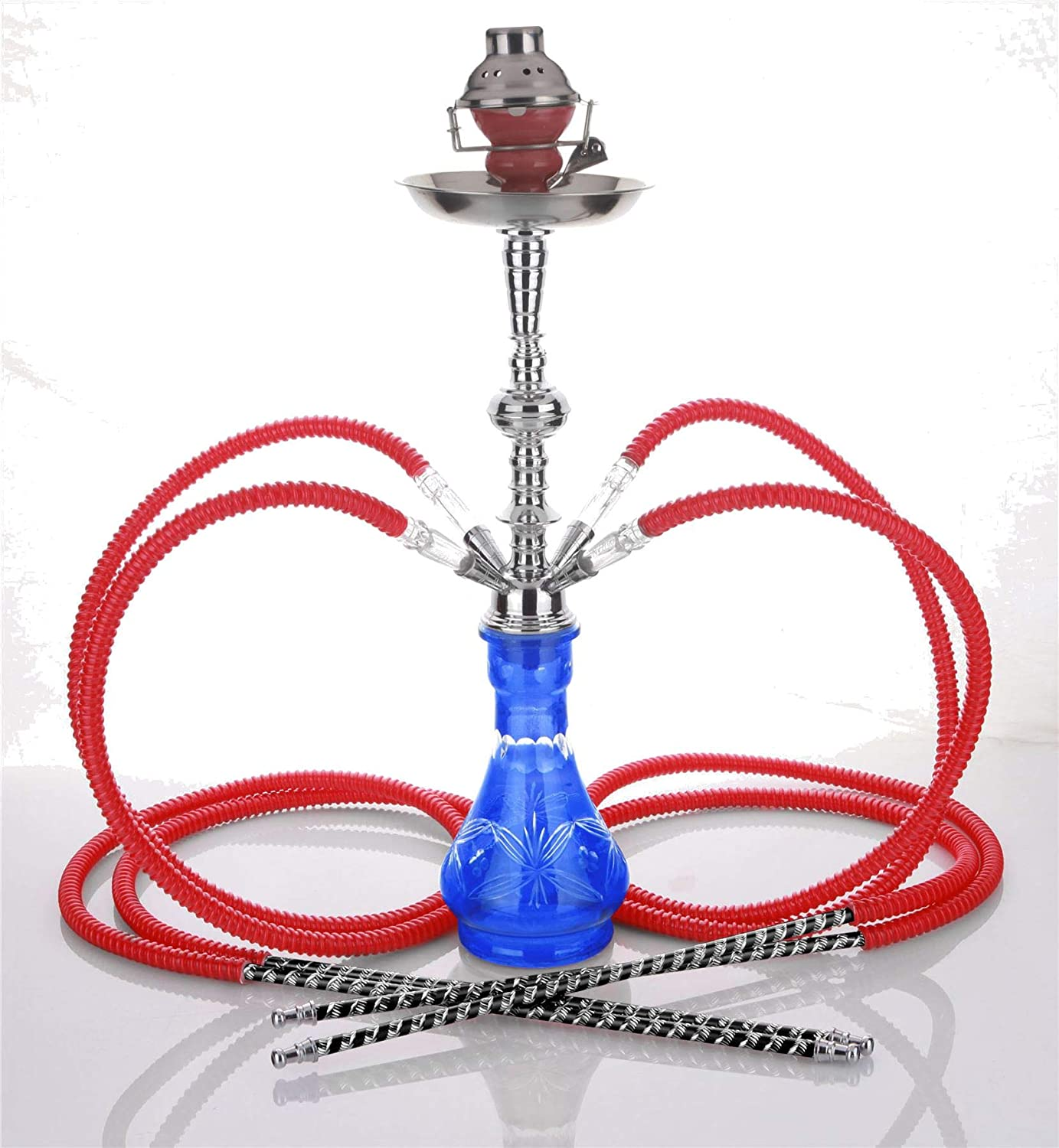 Medium Black 4 Hose Hookah no Tobacco Special price for a limited time + Nicotine OFFicial shop Wind S Cover