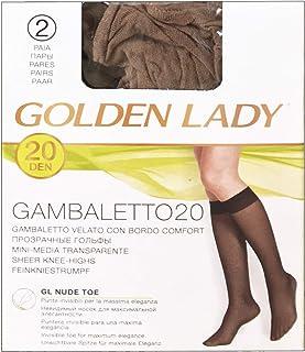 GOLDEN LADY CALZEGAM1AVISON Gambaletto 20 den Visone 2 Paia 1a Unisex-Adulto