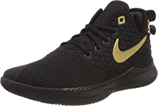 Nike Men's Lebron Witness III Basketball Shoe Black/Metallic Gold Size 10 M US