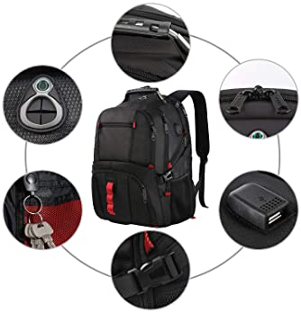 Extra Large Backpack, TSA Friendly Travel Laptop Computer Backpack Gifts for Men Women with USB Charging Port,School ...