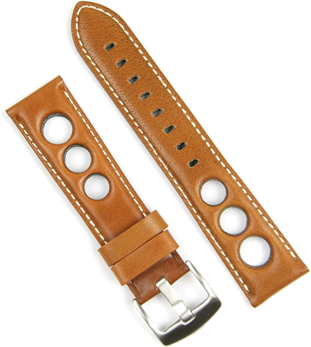 B R Bands 20mm Tan Horween Watch NEW before selling ☆ Leather Rallye Strap Band Popular products Whi