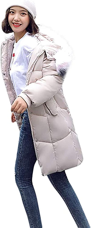 Parka Jacket Women, Winter Long Jacket with Faux Fur Hood, Warm Oversized Chunky Padded Jacket, Winter Coat Work