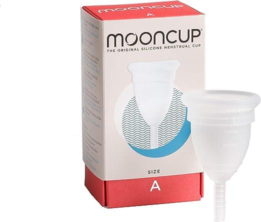 Mooncup - Copa menstrual reutilizable, Transparente - talla A