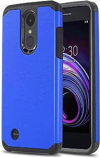 Phone Case for [LG Rebel 4 LTE (L212VL, L211BL)], [DuoTEK Series][Blue] Shockproof Cover [Impact Resistant][Defender] for LG Rebel 4 LTE (Tracfone, Simple Mobile, Straight Talk, Total Wireless)