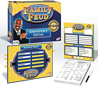 Endless Games 40th Anniversary Edition Family Feud Game - Game Console with Grid Cover - Match Most Popular Survey Answer to Win Game