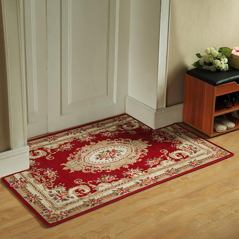 Doormat European Style,Home,Carpet [Waterproof],no-Slipping mat Foot pad Bedroom,Kitchen,Toilet Indoor mat-I 90x90cm(35x35inch)