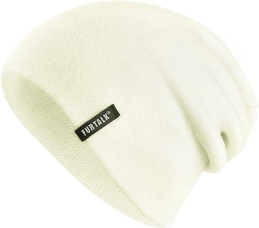 FURTALK Beanie for Men Women Cuffed Plain Skull Hat Unisex Winter Knit Cap Men and Womens Beanie