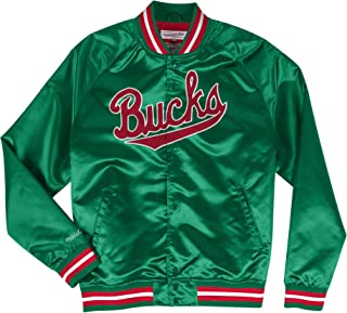 d1005357c Mitchell   Ness Milwaukee Bucks NBA Lightweight Satin Jacket