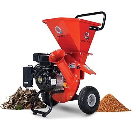 """GreatCircleUSA Wood Chipper Shredder Mulcher Heavy Duty 212cc Gas Powered 3 in 1 Multi-Function 3"""" Inch Max Wood Diameter Capacity EPA/CARB Certified Aids in Fire Prevention - Building a Firebreak"""